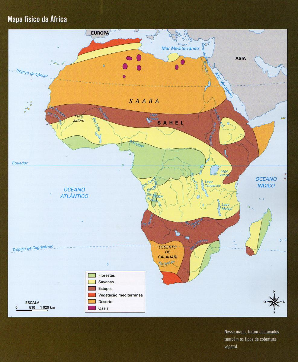 Map Quiz Mapa Fisico Africa Costas Geografia